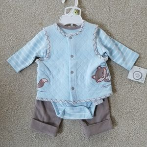 3-6 month fox outfit